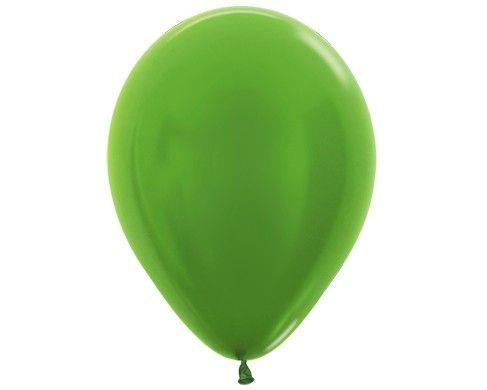 Зеленый-лайм гелиевый шар