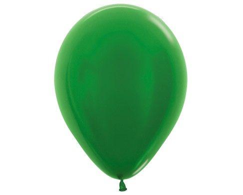 Зеленый гелиевый шар