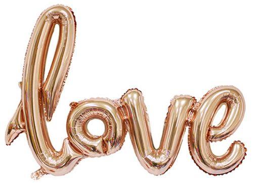 Надпись гелиевая,фольгированная LOVE