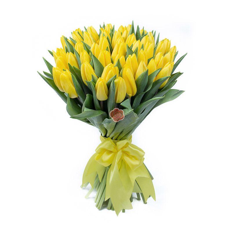 Букет цветов ЖЕЛТЫЙ ТЮЛЬПАН
